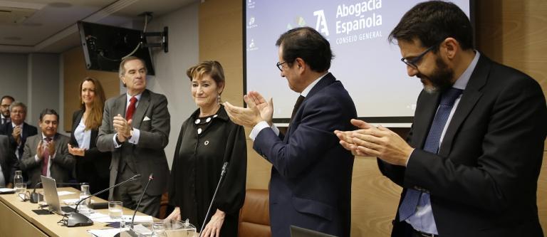 Victoria Ortega, reelegida presidenta del Consejo General de la Abogacía Española